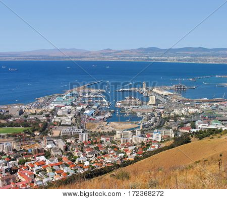 VIEW OF VICTORIA AND ALFRED WATERFRONT, CAPE TOWN SOUTH AFRICA 12ssc