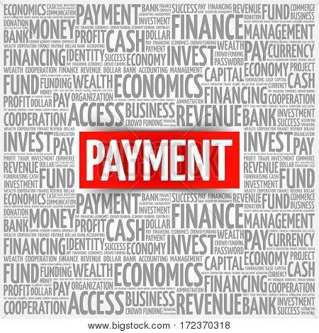 PAYMENT word cloud collage, business concept background