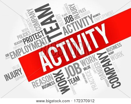 ACTIVITY word cloud collage business concept background