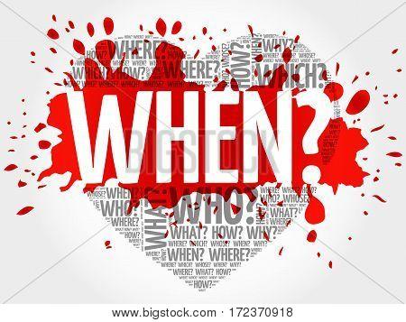 When? Question Heart