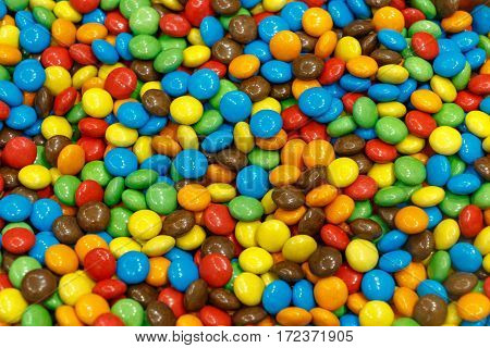 Colorful Sugar Covered Chocolate Candy