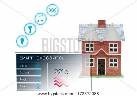 Smart Home With Control Panel For Remote Control House