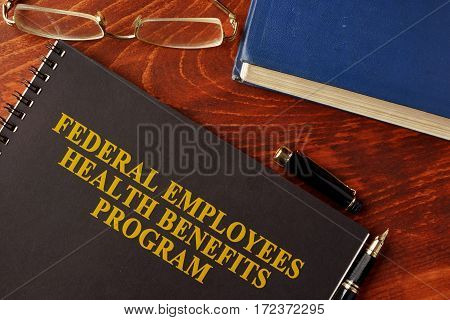 Book with title Federal Employees Health Benefits Program (FEHB)