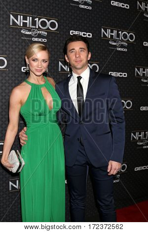 LOS ANGELES - JAN 27:  Gina Comparetto, Billy Flynn at The NHL100 Gala at Microsoft Theater on January 27, 2017 in Los Angeles, CA