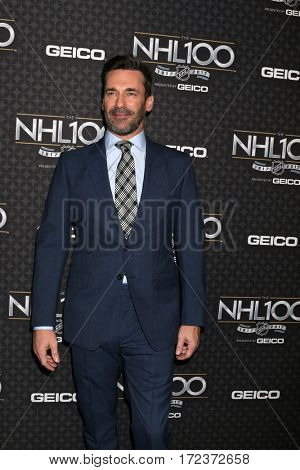 LOS ANGELES - JAN 27:  Jon Hamm at The NHL100 Gala at Microsoft Theater on January 27, 2017 in Los Angeles, CA
