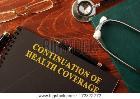 Book with title Continuation of Health Coverage.