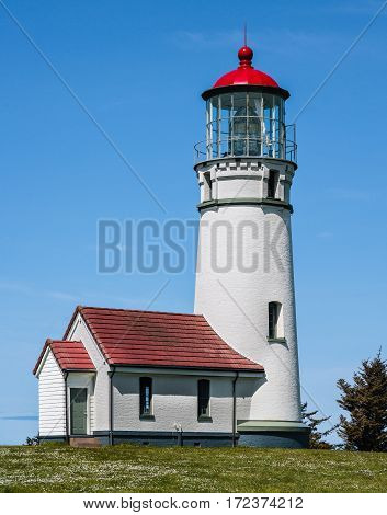 Cape Blanco Lighthouse on the Pacific Coast of Oregon