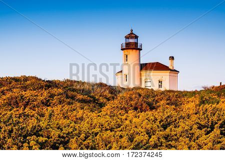 Coquille River Lighthouse located near Bandon, Oregon