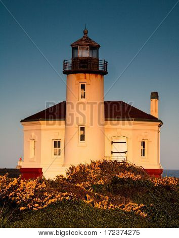 Coquille River Lighthouse located in Bandon, Oregon