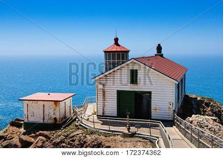 Point Reyes Lighthouse on the California Coast.