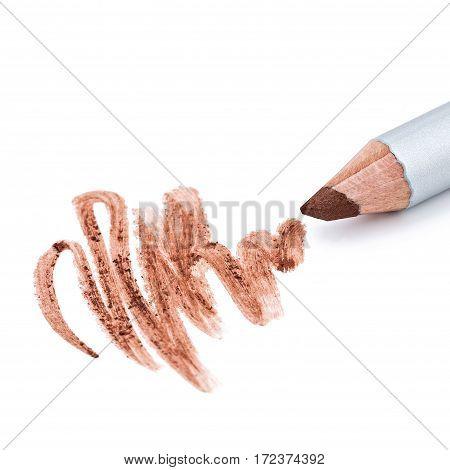 eyeliner, eye contour, collage, isolated on white background