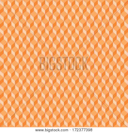 Abstract geometric seamless background single color. Regular diamond pattern in orange shades gradient.