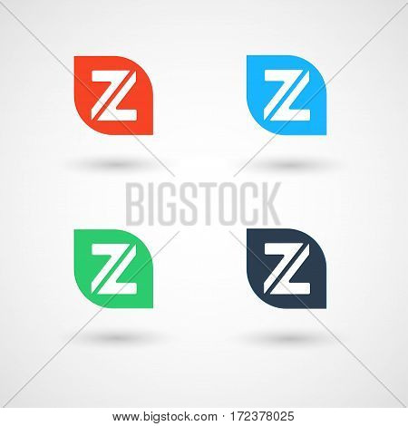 Abstract Simple Style Z Logo, Vector, Illustration