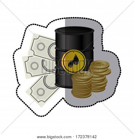 gasoline tanks with money icon, vector illustration image