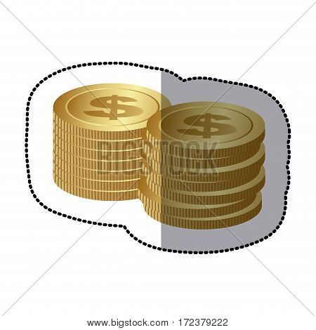 coin icon stock image, vector illustration design