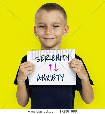Emotional Antonyms Serenity Anxiety Illustration