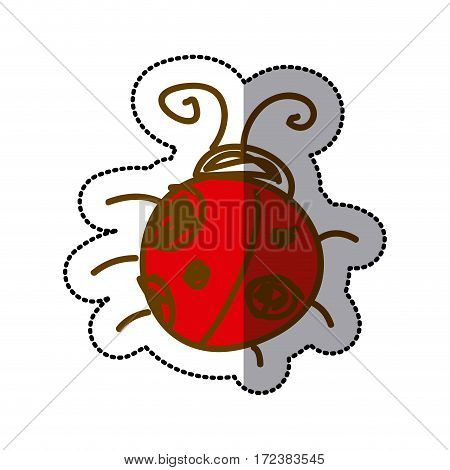 ladybug icon stock image, vector illustration design