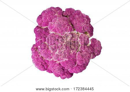 Purple cauliflower on a white background isolated diet healthy eating