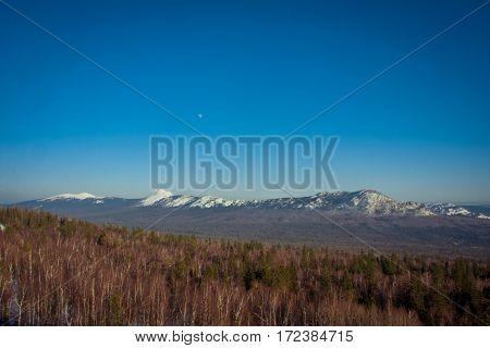 Ridge Taganay south urals russia. South Urals.