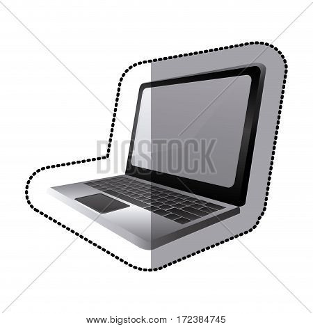 laptop icon stock image, vector illustration design