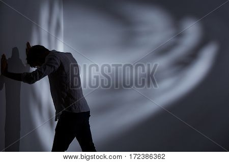 Man Punching The Wall