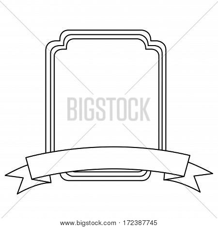 emblem plaque in blank icon image, vector illustration