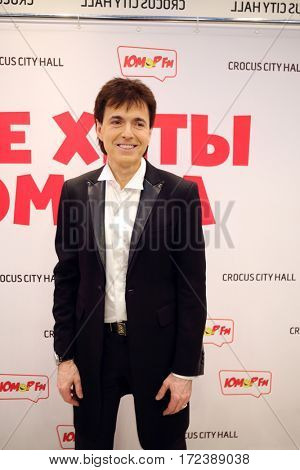 MOSCOW - OCT 9, 2016: Gennady Vetrov poses at All hits of Humor concert in Crocus City Hall