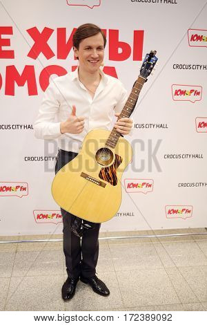MOSCOW - OCT 9, 2016: Vyacheslav Myasnikov at All hits of Humor concert in Crocus City Hall