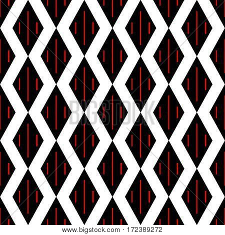 Seamless decorative pattern with rhombus,with lines in interior.