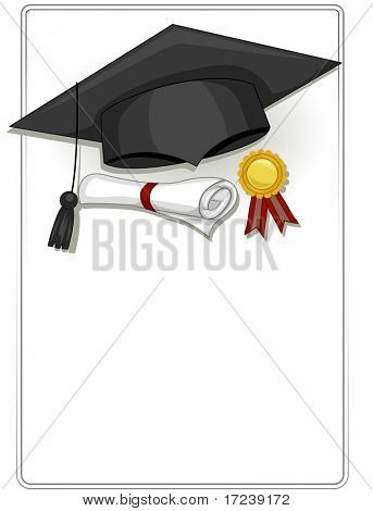 Frame Design Featuring Graduation Related Items