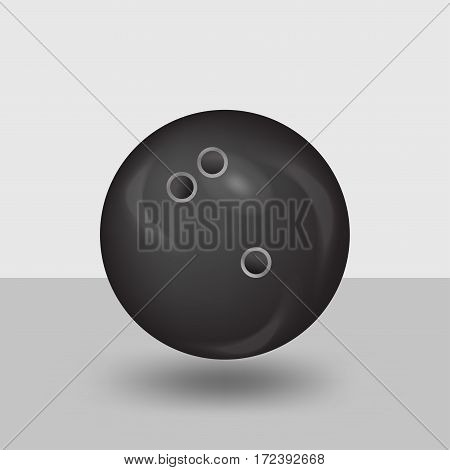 Bowling ball . Round black holes. vector illustration