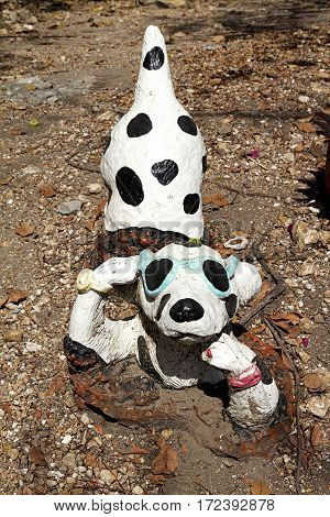 dog Dalmatian statue decoration sunglass art object