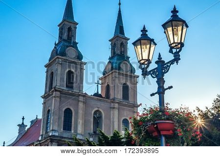 town Brzeg Brieg The Church of St. Cross in Poland