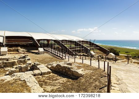 The archaeological remains of Kourion city-kingdom destroyed in a severe earthquake in 365 AD.