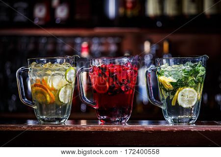Coctail Drink In Jugs