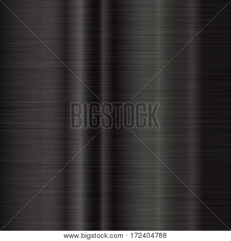 Black Metal abstract technology background with polished, brushed texture, chrome, silver, steel, aluminum for design concepts, web, prints, posters, wallpapers, interfaces. Vector illustration.