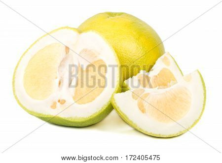 Oroblanco Fruit With A Slice And Half