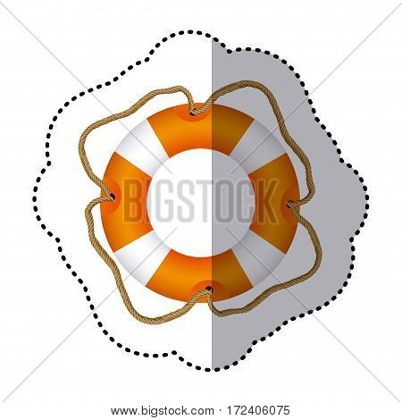 sticker full color with Flotation hoop vector illustration