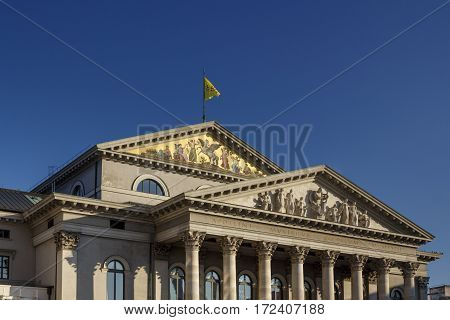 MUNICH, GERMANY - OCTOBER 31, 2015: New Residence Theatre of the Residence in Munich is located in the inner city close to Odeonsplatz and houses the Bavarian State Theatre it is one of the most important German languages theatres in the world