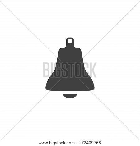 Bell icon symbol isolated on white background