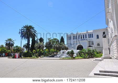 the Central square of Sukhumi Sunny day July