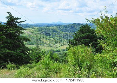 View of the Caucasus Mountains Abkhazia 2016