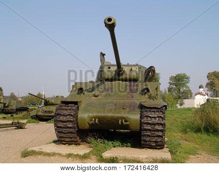 Russia. Battle Tank of WW2. M4 Sherman