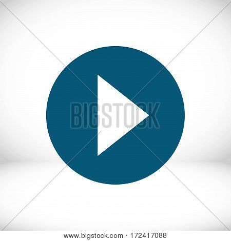 play icon stock vector illustration flat design