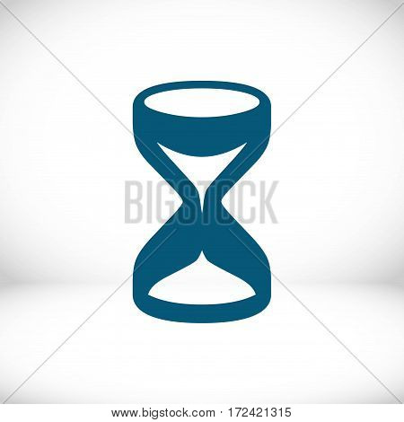 hourglass icon stock vector illustration flat design