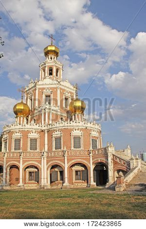 Church of the Intercession at Fili. Moscow. Russia