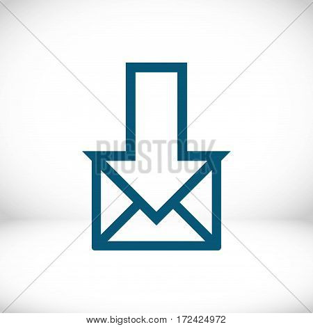 email icon stock vector illustration flat design