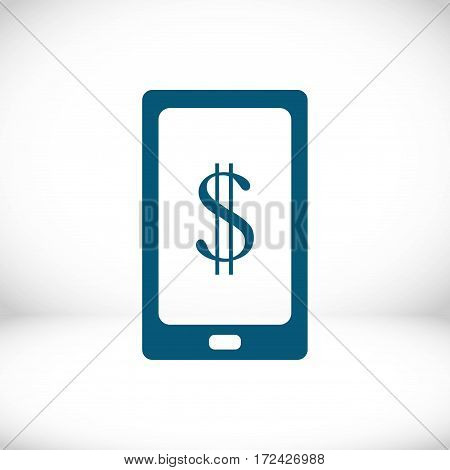 Smart phone with money dollars stock vector illustration flat design