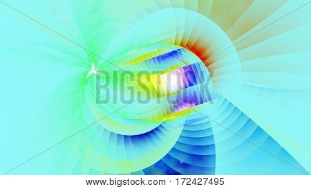 Joy of life. Kaleidoscope. Swirling spiral. 3D surreal illustration. Sacred geometry. Mysterious psychedelic relaxation pattern. Fractal abstract texture. Digital artwork graphic astrology magic