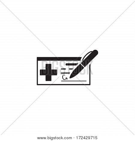 Medical Prescription and Services Icon. Flat Design. Isolated.